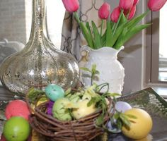 It's time to decorate for spring and I've got some tips to share with you to make that task easier. Hop on over and get pics to walk you through all the steps I use when decorating my home.