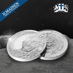 Satoja vuosia vanha symbolimme, Suomen leijona, on saanut oman juhlamitalin! Coins, Personalized Items, Rooms