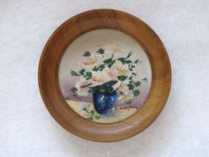 Vintage French Miniature Watercolor Impasto Floral On Board - Signed by VintageFrenchFinds, $50.00