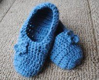 The Best Blue Slippers, #free #crochet #pattern by Lorene Eppolite on AllFreeCrochet.com