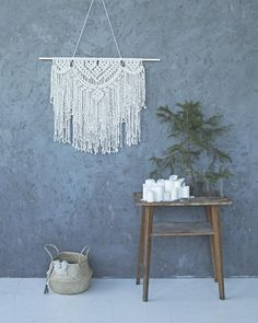 Amazing, large Macrame wall hanging, created in boho style will be an effective decor for your home. This macrame hanger is made in my created patter. It has two layers of 100% high quality twisted cotton cord and hanged on an aspen wood dowel. - PRODUCT DETAILS - * Materials: 100% high