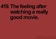 =) Love this. There are A LOT of movies that I really really like, but there are a handful that, at the end, literally make me sigh with contentment. The ones that immediately come to mind are Ratatouille, Dreamer, Kung Fu Panda, The Blind Side, and Secretariat.