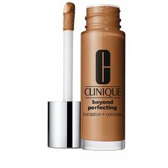 Clinique Beyond Perfecting Foundation + Concealer ($27) ❤ liked on Polyvore featuring beauty products, makeup, face makeup, concealer, amber, clinique concealer, moisturizing concealer and clinique
