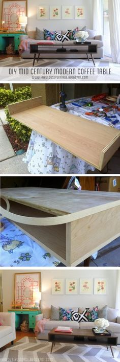 Check out how to build an easy DIY mid-century coffee table @istandarddesign