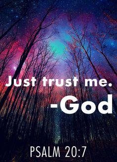 Só confie em mim-Deus