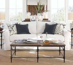 PB Comfort Roll Arm Slipcovered Sofa | Pottery Barn