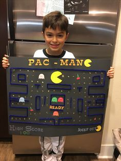 Pac-Man 100 days of school project idea - 100 Day Project Ideas, 100 Day Of School Project, 100 Days Of School, School Projects, First Grade Projects, Kindergarten Projects, Kindergarten Fun, Learning Activities, Activities For Kids