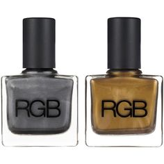 RGB Green Gold & Gunmetal Set (47 CAD) ❤ liked on Polyvore featuring beauty products, nail care, nail polish, makeup, nail, gold nail polish, gold nail color, gunmetal nail polish, green nail polish and rgb nail color
