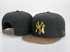 New York Yankees Golden Logo NBA Snapback Hats Brown Brim|only US$6.00 - follow me to pick up couopons.