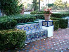 Tiled Garden Seat