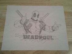Drawn as a present for my nephew Parker. He loves Deadpool so I found a pic and drew it for him.