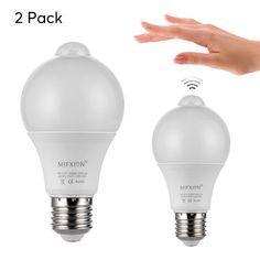 Led Light Bulb Set Motion Detection Light Sensor Plug 630 Lumen Each Bright Light Latest Tech Gadgets, Best Online Clothing Stores, Geek Gadgets, Electronics Gadgets, Light Sensor, Bright Lights, Plugs, Light Bulb, Discount Price