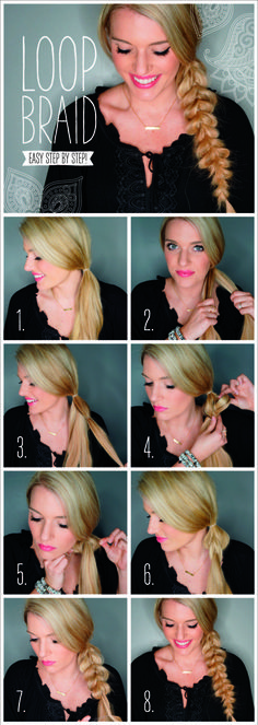 Loop braid tutorial pictorial by Morgan Bullard.