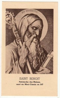 Antique italian Prayer Holy card of Saint Benedict Circa 1930. Size : 7 x 11.5 cm LINK to convert in inches You received exactly the old card of this photo! Patronage:Scholl children, Europe, kidney disease and poisoning About Holy cards All our holy cards are antique or vintage. They are stamped usually on paper or hand made painted Every card is like a miniature picture, see all details!