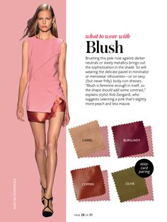 Instyle-What to wear with blush