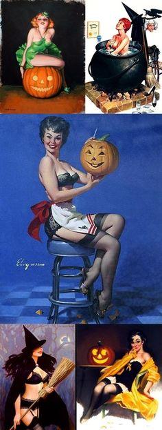 Vintage Halloween pinups