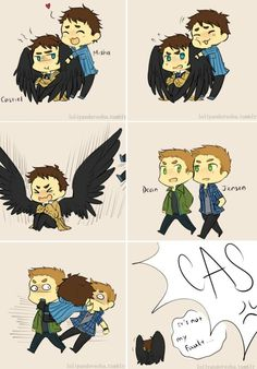 Ideas For Funny Supernatural Comics Fandoms Supernatural Angels, Supernatural Drawings, Supernatural Fan Art, Supernatural Bloopers, Supernatural Imagines, Supernatural Wallpaper, Jensen Ackles, Sam Y Dean Winchester, Winchester Brothers