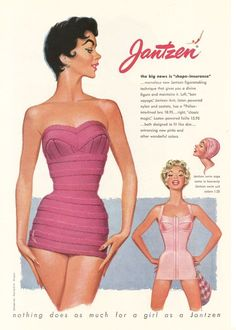 In honor of month, Pink vintage Jantzen swimsuits in Beach Outfits, In honor of month, Pink vintage Jantzen swimsuits in 1954 ad . Vintage Mode, Vintage Pink, Vestidos Pin Up, Retro Lingerie, Lingerie Images, Retro Bathing Suits, Vintage Outfits, Vintage Fashion, 70s Fashion