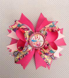 Shopkins Boutique Bow / Pink Shopkins Bow / Shopkins Birthday