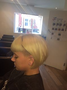 Bob hair with undercut and fringe 2014