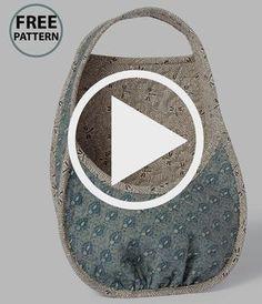 Sehen Sie sich das Video an und laden Sie das KOSTENLOSE Muster herunter wie Sie einen Korb erstellen um Сумки Чехлы Кошельки Bag Patterns To Sew, Sewing Patterns Free, Free Pattern, Pattern Sewing, Pattern Fabric, Pattern Ideas, Sewing Hacks, Sewing Tutorials, Sewing Projects