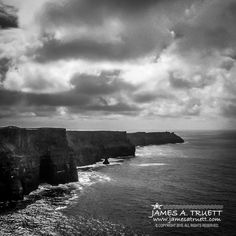 www.moodsofireland.com - Dark clouds loom over #Ireland's iconic Cliffs of Moher on the Wild Atlantic Way in County Clare.
