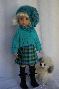"Effner 13"" Little Darling *PLAID PERFECT* Ensemble by Ladybugs Doll Designs"