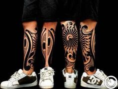 Neo tribal tattoos artwork by very talented tattoo artists from around the world. Yoga Tattoos, Time Tattoos, Sleeve Tattoos, Tatoos, Polynesian Tattoos Women, Filipino Tribal Tattoos, Samoan Tattoo, Trendy Tattoos, Tattoos For Guys