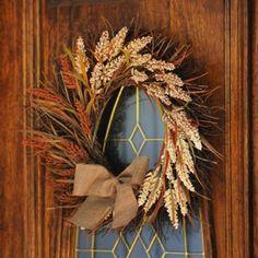 Natural Burlap Wheat Wreath   Kirklands