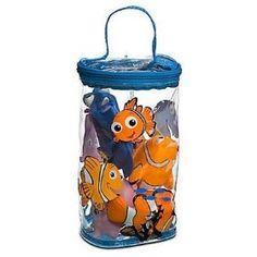 Disney Finding Nemo Bath Buddies 4 Piece Toy Set, (baby shower gift, bath toy, bath toys, disney, dory, finding nemo, nemo, toddler toys)