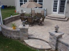 Brick pavers on UNIBASE system, Lifetime Warranty - traditional - patio - chicago - by Unibase Proscapes