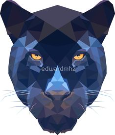Tattoo geometric animal panther 52 Ideas for 2019 Art And Illustration, Illustrations, Geometric Drawing, Geometric Art, Geometric Animal, Arte Pop, Triangle Art, Polygon Art, Animal Faces