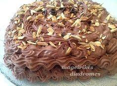 Τούρτα Παναμά ! | Greek Desserts, Party Desserts, Dessert Recipes, Cookbook Recipes, Cooking Recipes, Yams, Frozen Yogurt, Sorbet, Apple Pie
