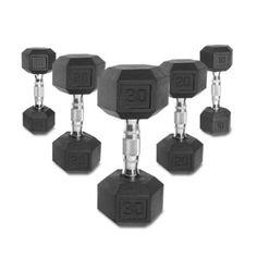 CAP Barbell Rubber Hex Dumbbell Set - SDRS-