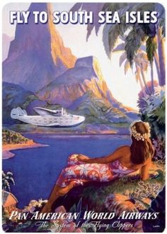 Vintage Hawaiian Travel Poster Postcard