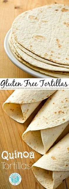 These quinoa tortillas are not only made with a superfood, but they are flexible and strong enough to hold your filling. Per tortilla: Carbohydrate Tortillas Sans Gluten, Quinoa Tortillas, Flour Tortillas, Gluten Free Cooking, Dairy Free Recipes, Vegan Gluten Free, Gf Recipes, Gluten Free Wraps, Freezer Recipes