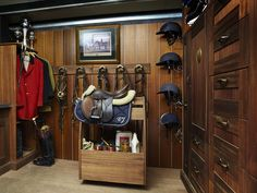 How my section and Hannah's section of the tack room will look like