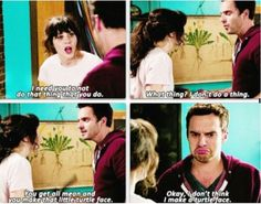 New girl - Nick's turtle face