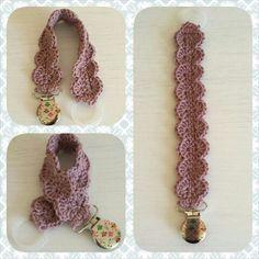 Crochet pacifier holder                                                                                                                                                                                 More