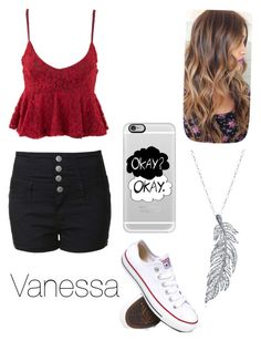 """""""Road trip"""" by nat-cat-iconic ❤ liked on Polyvore featuring Glamorous, Converse, Casetify and Stone Paris"""