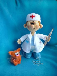 Doctor amigurumi knitting pattern от jasminetoys на Etsy