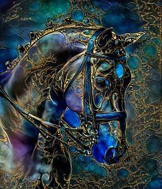Painted Horses, Wildlife Paintings, Animal Paintings, Art Tigre, Images D'art, Art Fantaisiste, Horse Artwork, Painted Pony, Tier Fotos