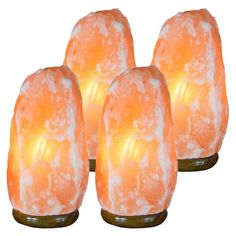 8 Inch, Indus Classic, Lot of 2 Himalayan Rock Crystal Salt Lamps Lbs Comes with Shrink Wrapped, Cord, Bulbs. Get Free 125 Grams Gourmet Pink Edible Food Grade Salt. Natural Lamps, Natural Air Purifier, Salt Rock Lamp, Himalayan Salt Lamp, Natural Salt, Easy Diy Gifts, Hanging Lights, Natural Crystals, Boyfriend Gifts