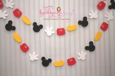 Mickey Mouse Garland 12 ft. Mickey Mouse by BrandalynsPaperie