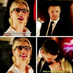 """You at least have one voter in your camp"" - Felicity and Oliver #Arrow"
