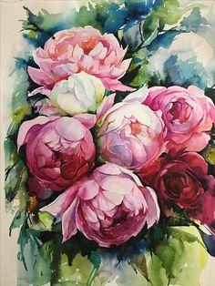 "For Sale: Watercolor by Nataliya | $300 | 16""w 22""h | Original Art | https://www.vangoart.co/nataliya/watercolor @VangoArt"