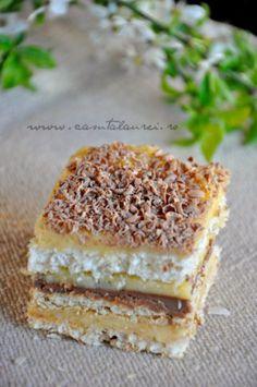 Romanian Desserts, Cake Recipes, Dessert Recipes, Food Cakes, Homemade Cakes, Coco, Italian Recipes, Chocolate Cake, Sweet Treats