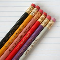 12 twelve personalized custom engraved pencil by thecarboncrusader, $18.00