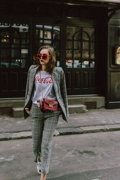 Check suit | Curated by Lulu W @luluwang