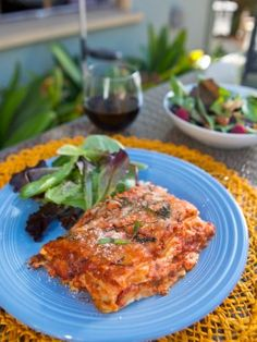 Dave Pearson's Famous Lasagna : Recipes : Cooking Channel \ grandmother's ravioli - great show!